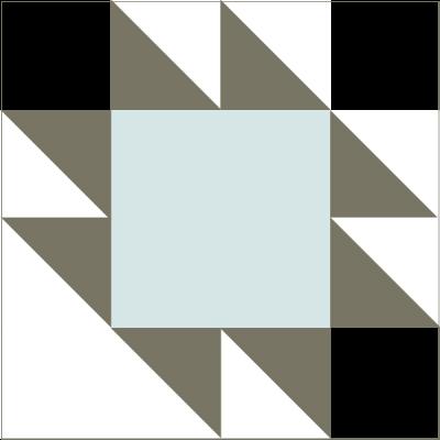 Illustration of the Anvil Quilt Block