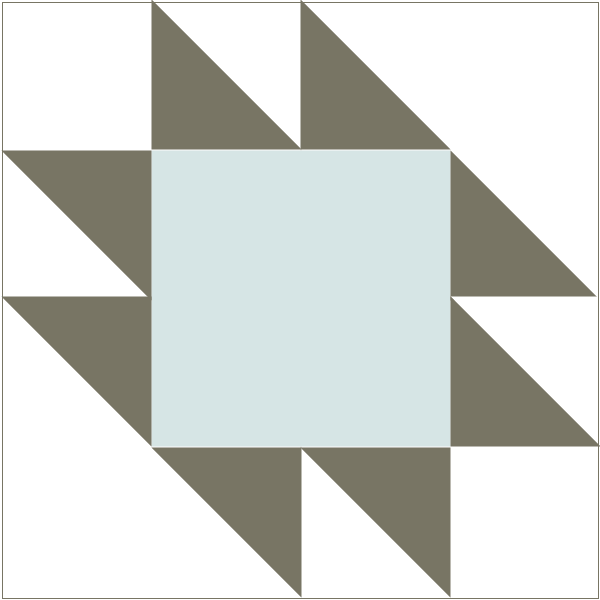 Illustration of the Anvil Quilt Block