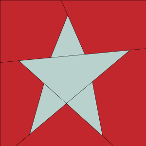 Illustration of the Easy Star Quilt Block