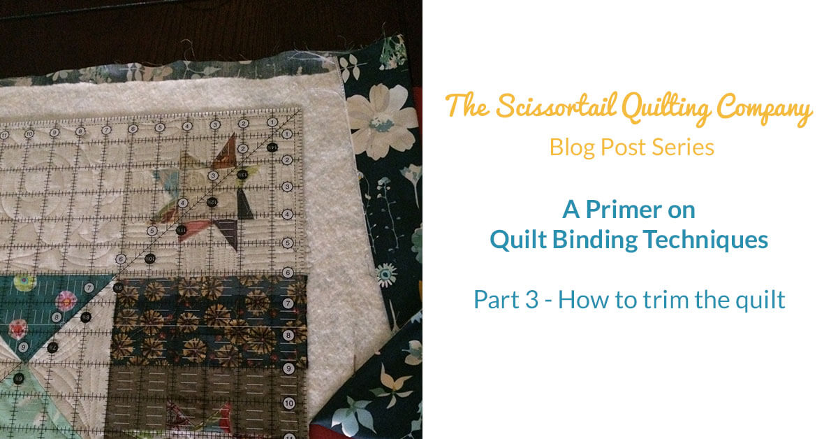 How To Trim A Quilt Before Binding Scissortail Quilting