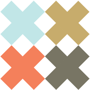 Illustration of the Four X Quilt Block