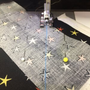 make quilt binding by sewing binding strips together