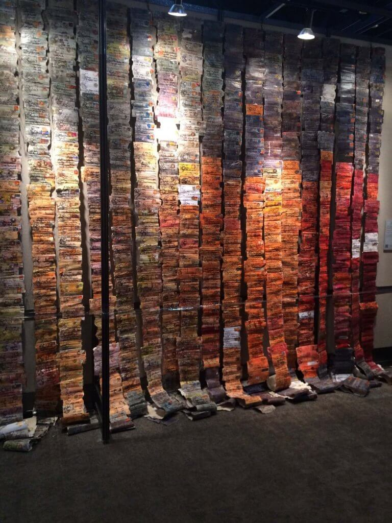Photo of Letters from a Friend by Els van Baarl, Netherlands on display at the 2017 Houston International Quilt Festival