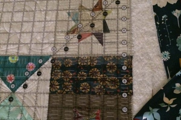When you get to the corner, repeat all steps again for the remainder of the quilt