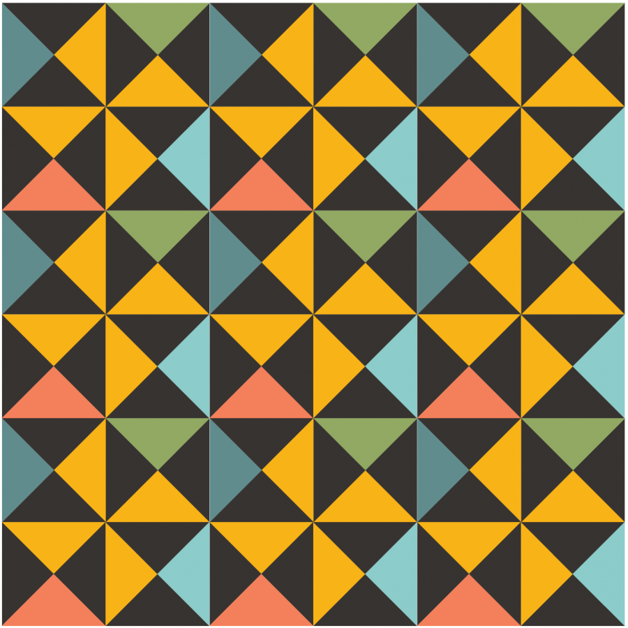 Illustration of a grouping of Big Dipper Quilt Blocks