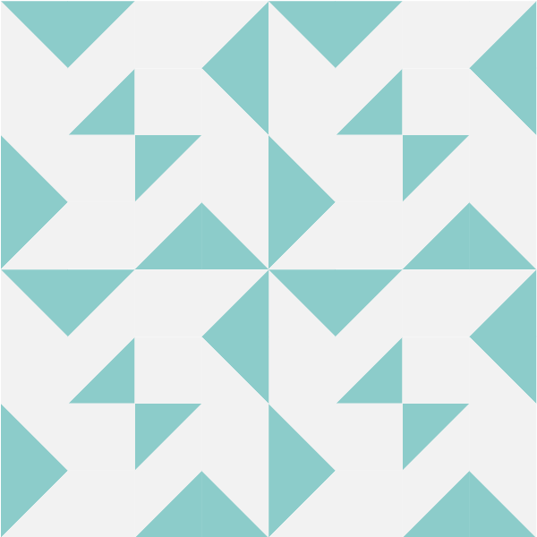 Illustration of a Grouping of the Blockade Quilt Block