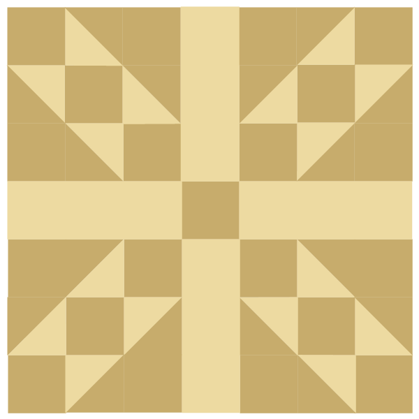 Illustration of The Country Roads Quilt Block