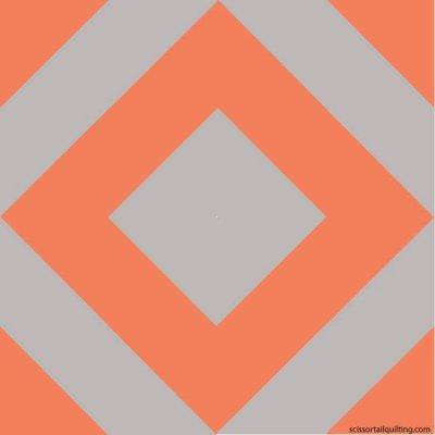 Illustration of the Fancy Stripe Quilt Block