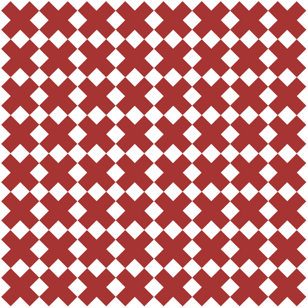 Illustration of a traditional Red Four X Quilt