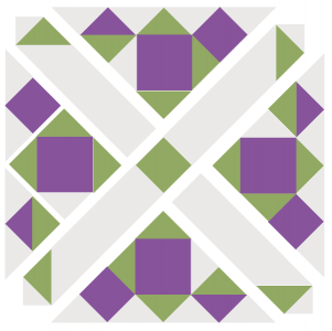 Exploded illustration of Grapevine Quilt Block