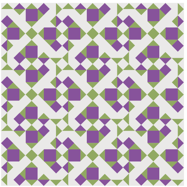 Ilustration of a quilt made with Grapevine Quilt Blocks