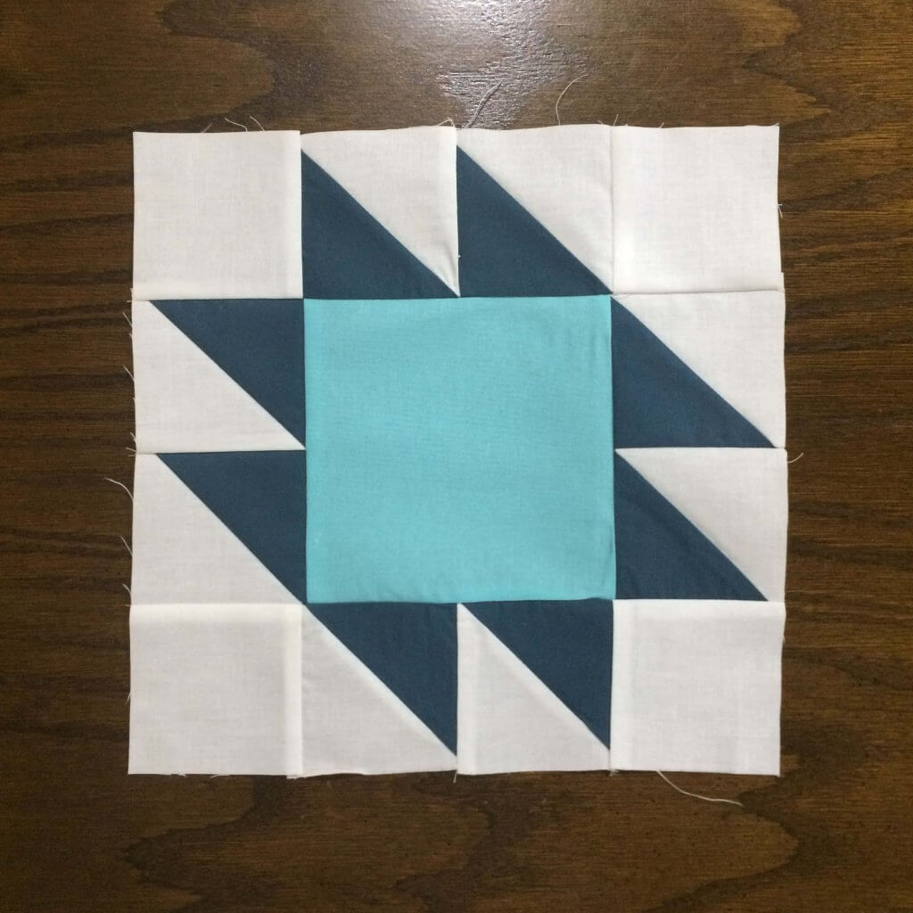 Completed Anvil Quilt Block