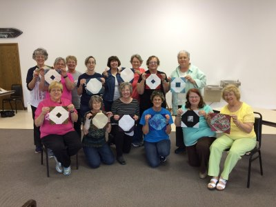 Photo of ladies who particiapted in the Tennessee Waltz Quilt Class