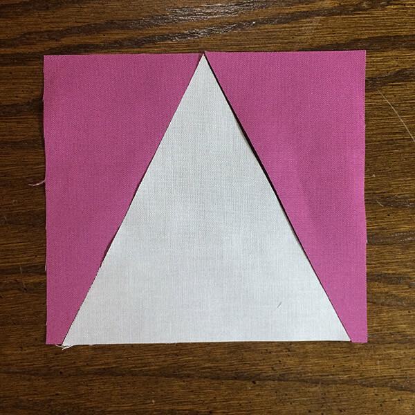 V-Block fabric pieces