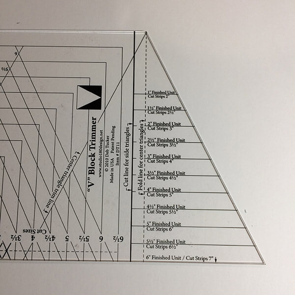 HRT side of V-Block ruler