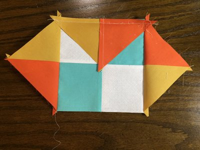 Image - adding next round of corners to Checkerboard Quilt Block