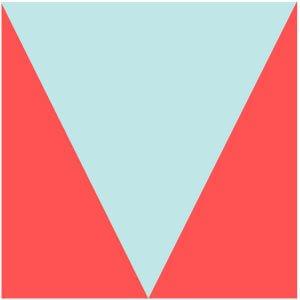 Illustration of the V Quilt Block