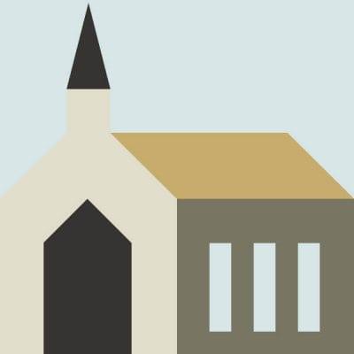 Illustration of Church Quilt Block