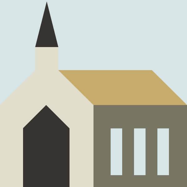 Church Quilt Block Scissortail Quilting