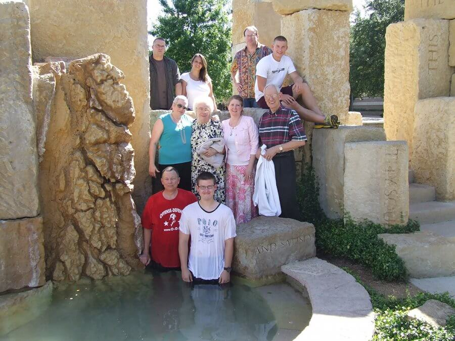 Family photo at a baptism