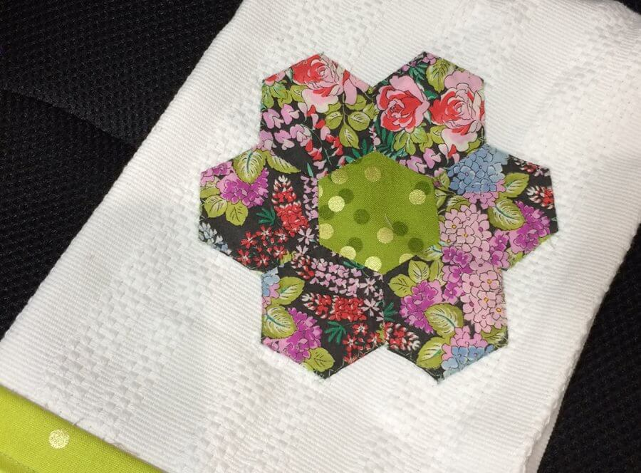 Photo of My Hexie Flower Tea Towel project