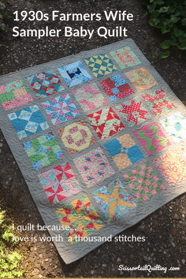 colorful quilt with patchwork blocks