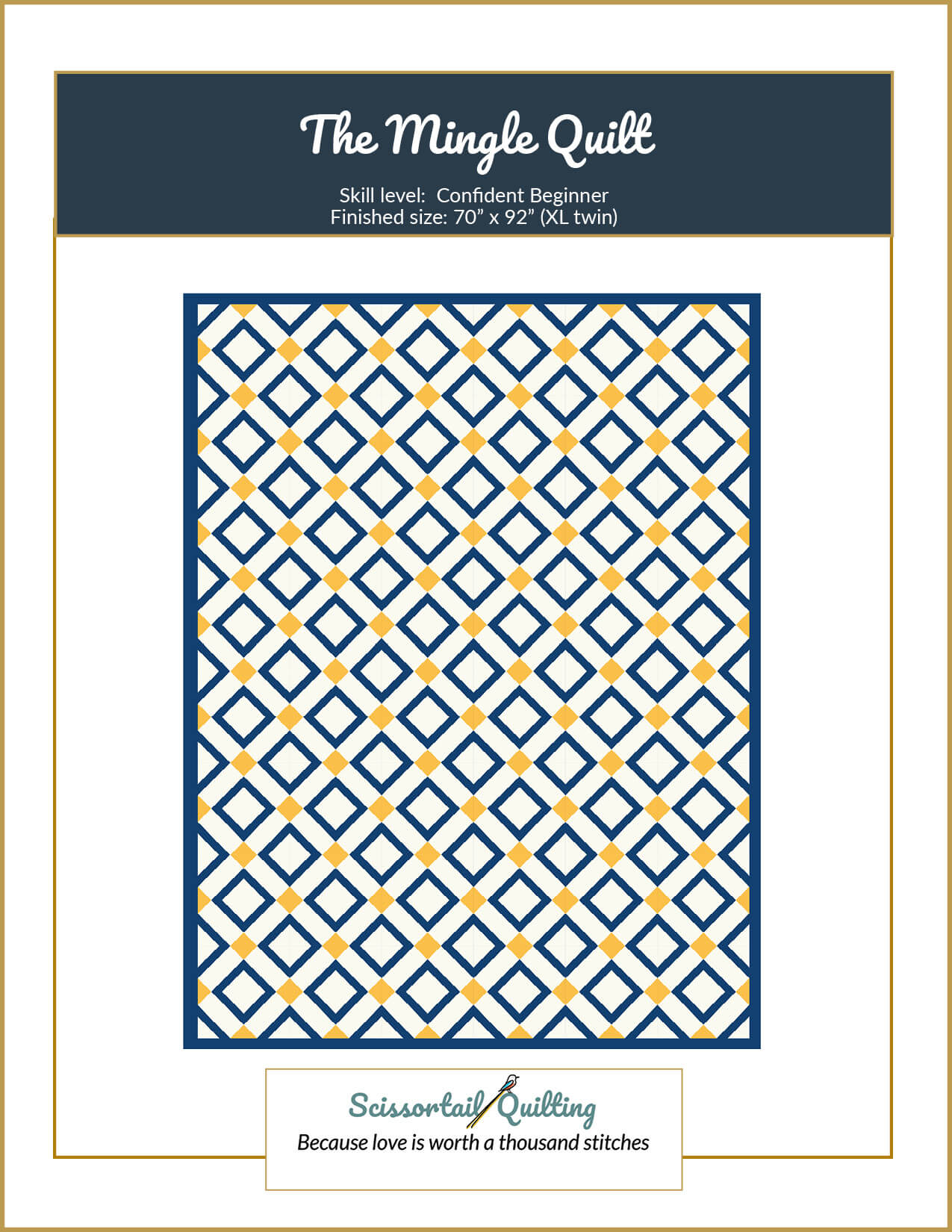Image of the Cover for the Mingle Quilt Pattern