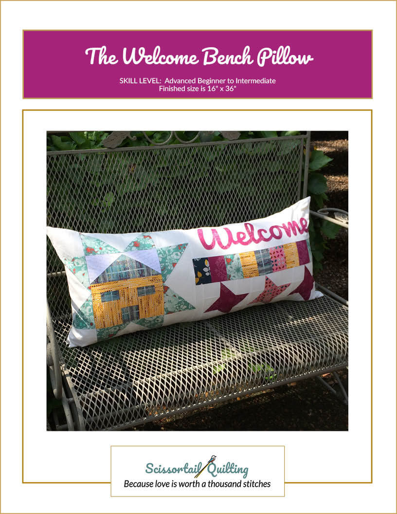 Photo of Cover for Welcome Bench Pillow Pattern