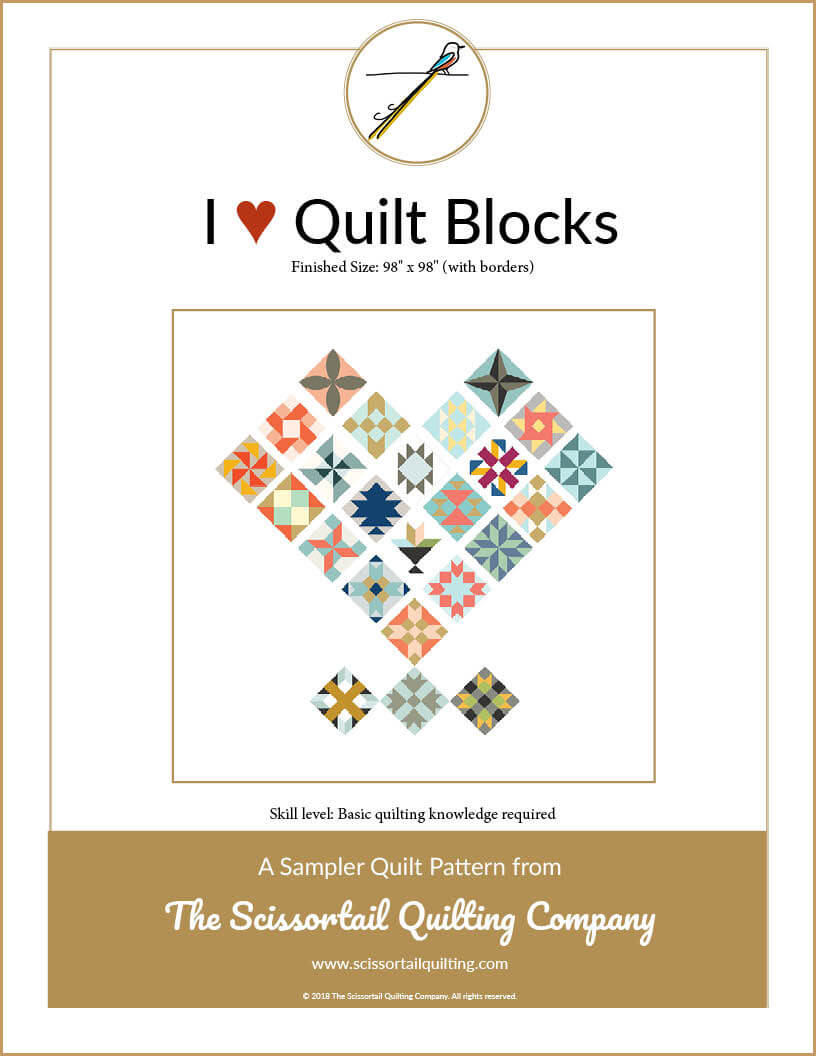 Cover image for I Heart Qult Blocks Pattern