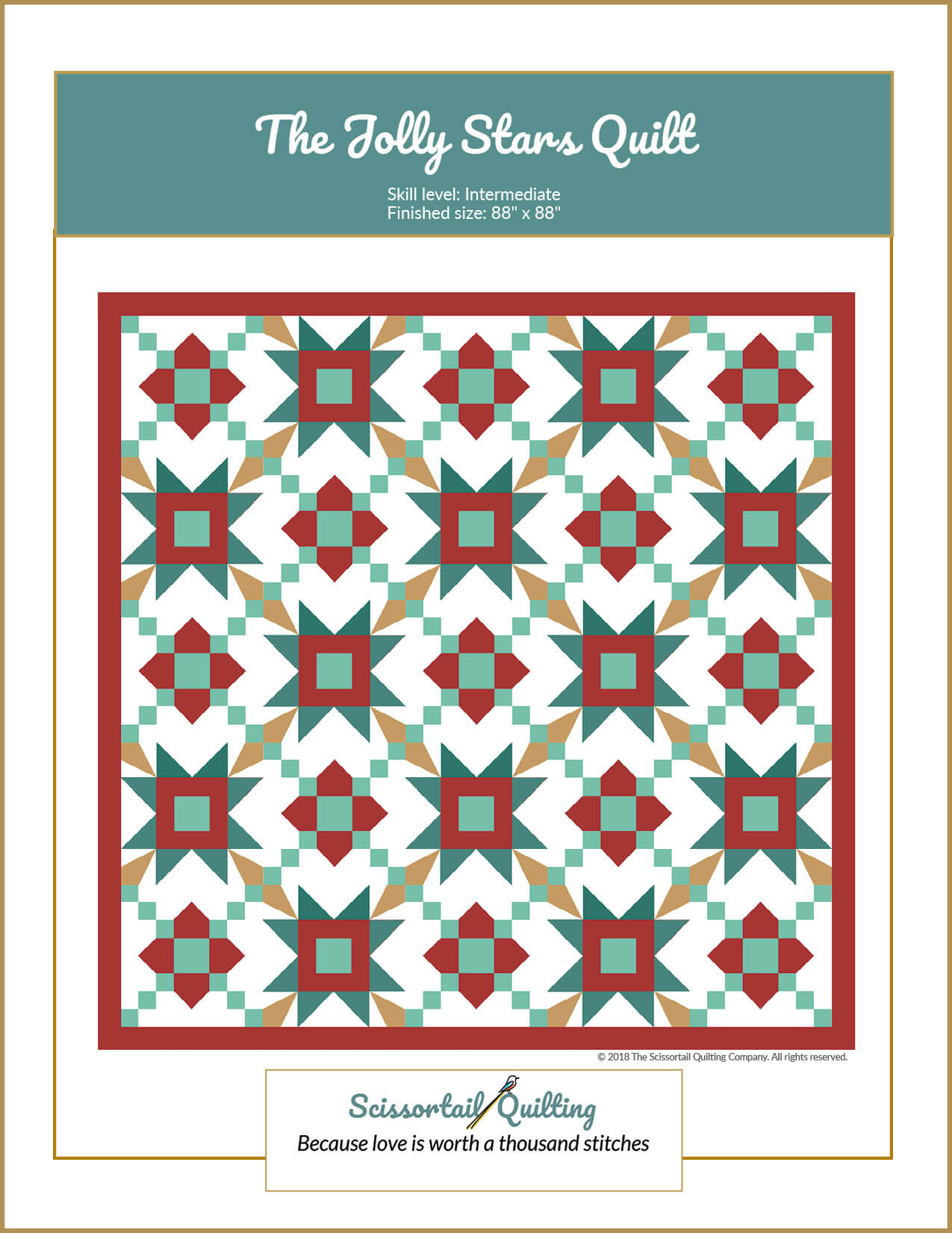 Cover for Jolly Stars Quilt Pattern