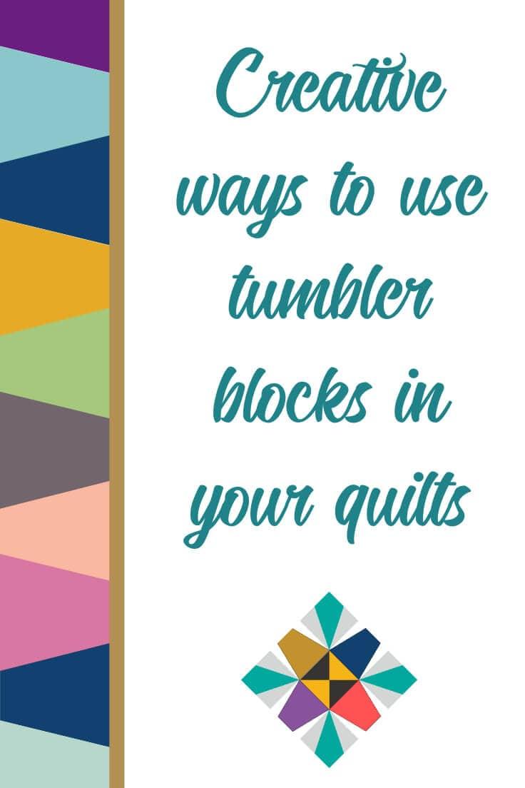 Pinterest image for blog post on creative ways to use tumbler blocks