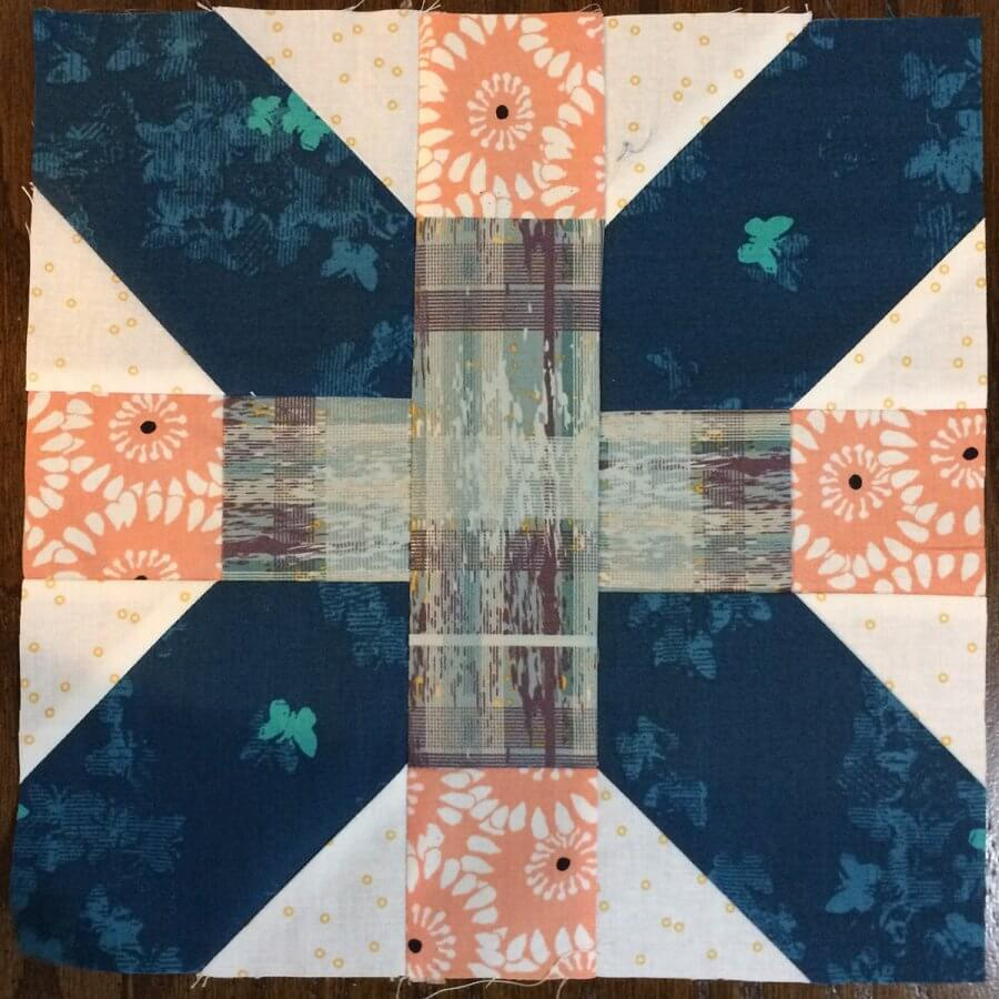 Photo of an X Plus Quilt Block
