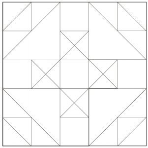 Outlined version of Handy Andy Quilt Block