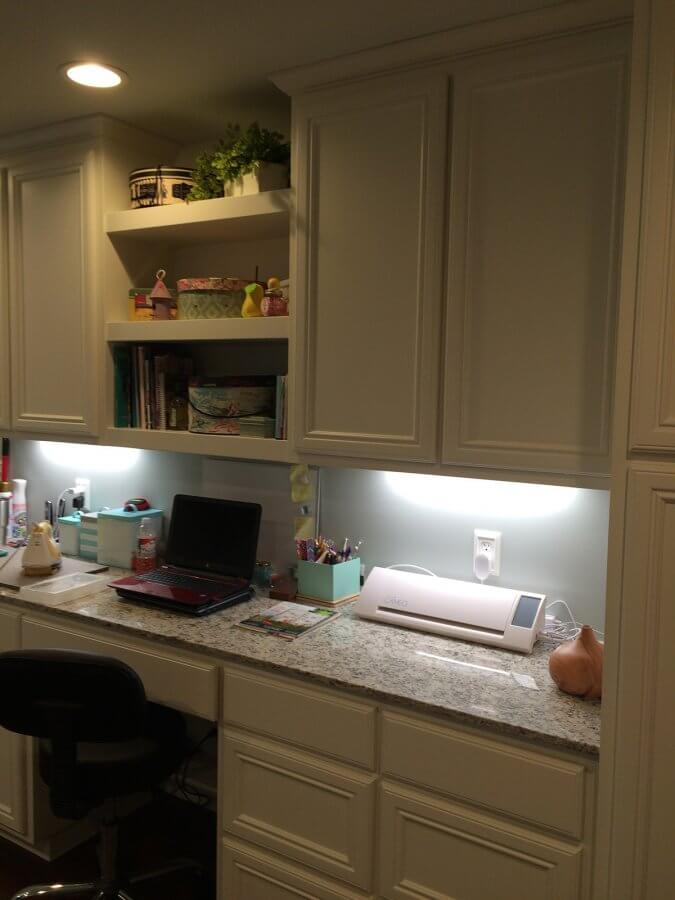 Photo of counter in sewing room