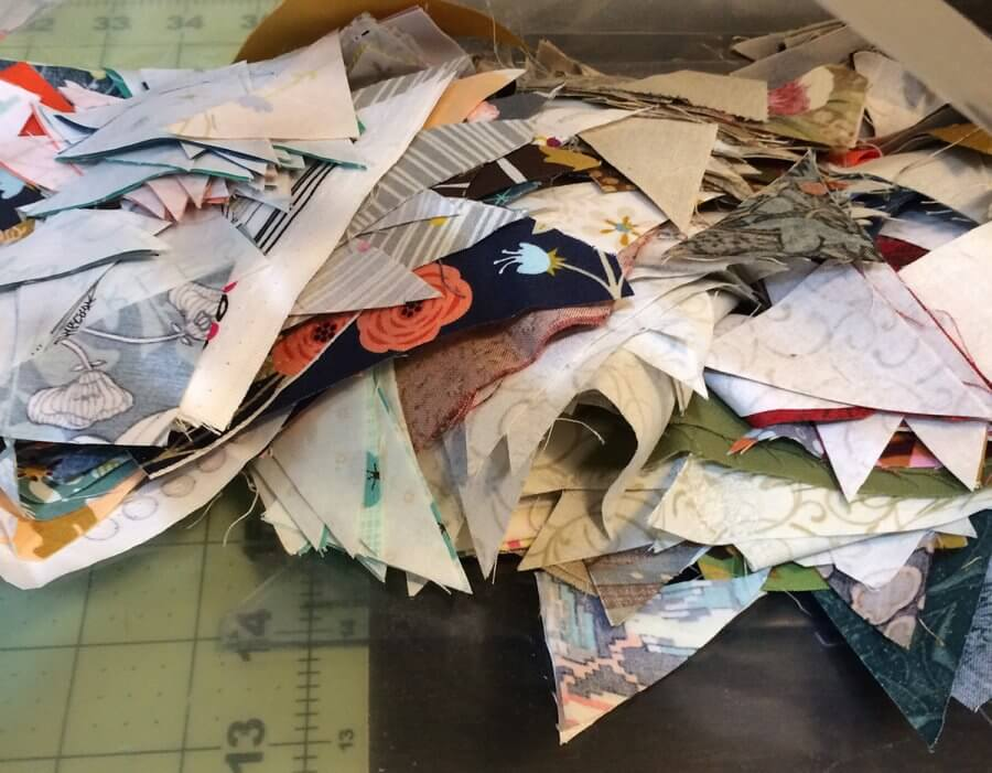 Photo of a pile of unsewn Quick Corners