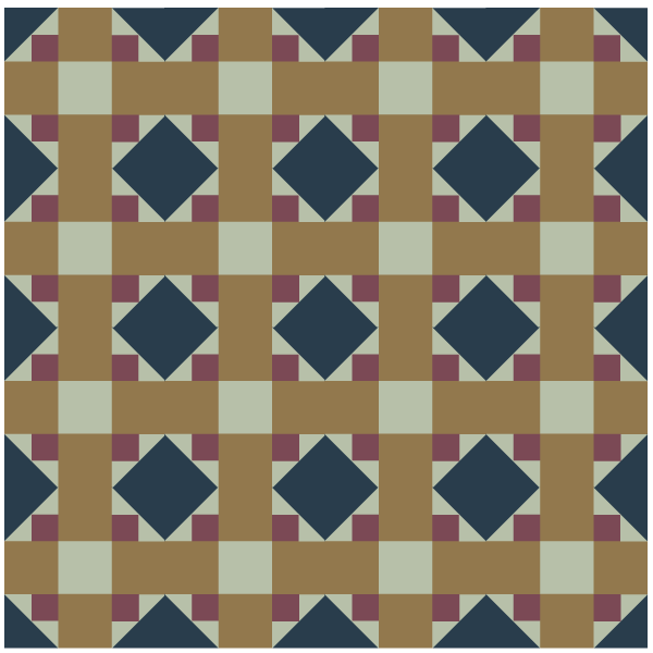 Illustration of a group of Album Cross Quilt Blocks