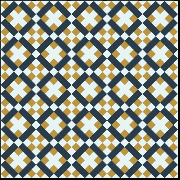 Illustration of a grouping of Brickwork Quilt Blocks