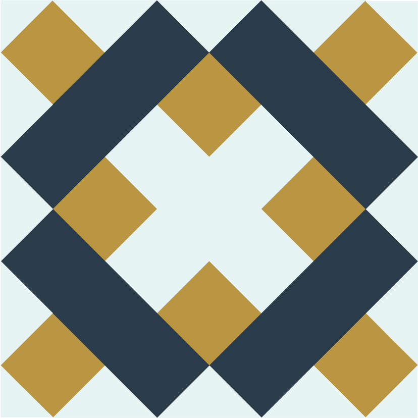 Illustration of The Brickwork Quilt Block