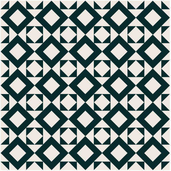 Illustration of a Grouping of Hourglass Quilt Blocks