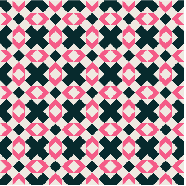 Illustration of a Grouping of Swing-in-the-center Quilt Blocks