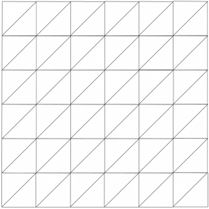 outlined illustration of battleground quilt block