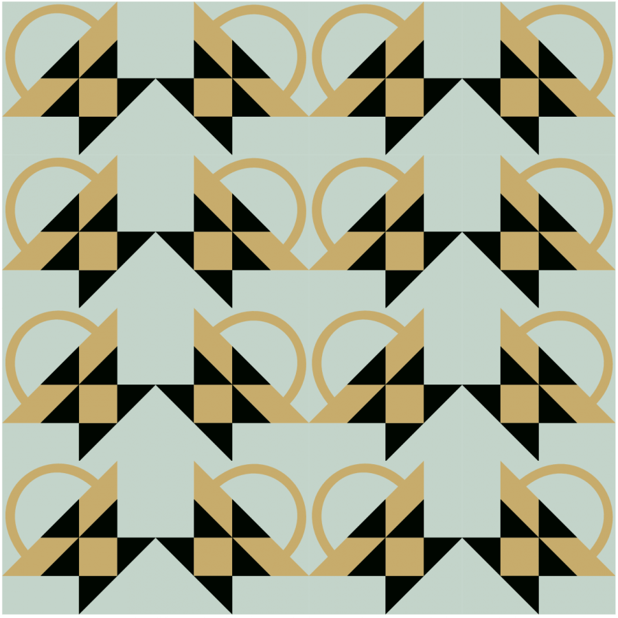 illustration of a grouping of bread basket quilt blocks