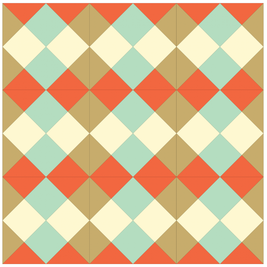 illustration of a Grouping of straight set Checkerboard quilt blocks
