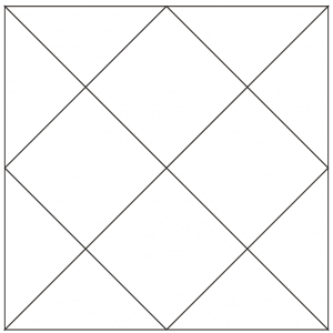 outlined illustration of the checkerboard quilt block