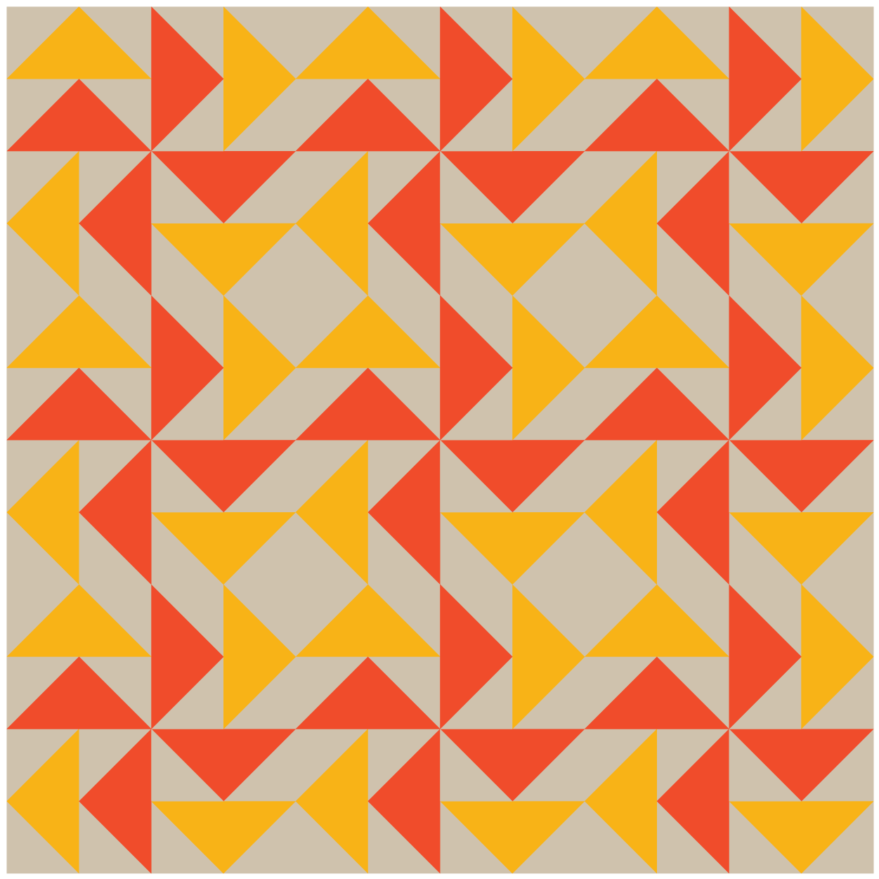 illustration of a group of Dutchman's Puzzle Quilt blocks