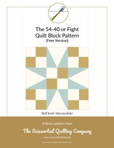 Preview for 54-40 Quilt Block Pattern