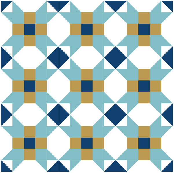 Illustration of a group of Fool's Square Quilt Blocks