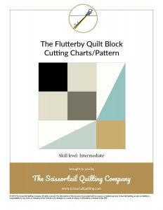 Preview Image of Flutterby Quilt Block cutting chart