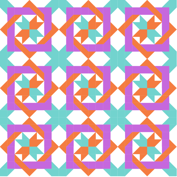 illustration of a group of Nancy's Fancy Quilt Blocks