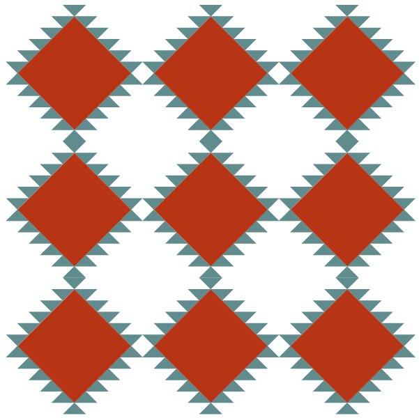 Quilt layout using navajo quilt block